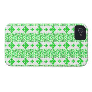 Fleur Stripe 1 Green iPhone 4 Covers