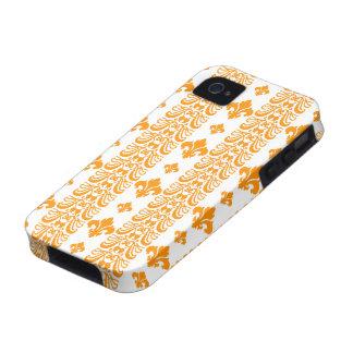 Fleur Stripe 1 Orange Vibe iPhone 4 Cases