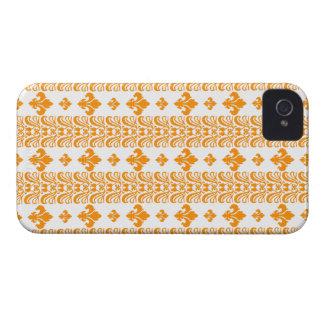 Fleur Stripe 1 Orange iPhone 4 Covers