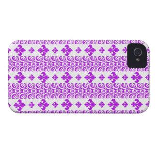 Fleur Stripe 1 Purple iPhone 4 Covers