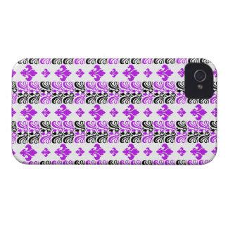 Fleur Stripe 1a Purple iPhone 4 Case-Mate Case