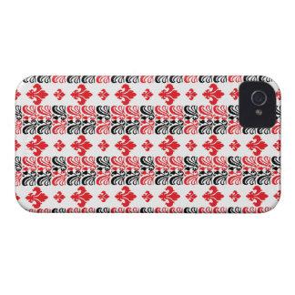 Fleur Stripe 1a Red iPhone 4 Case-Mate Cases