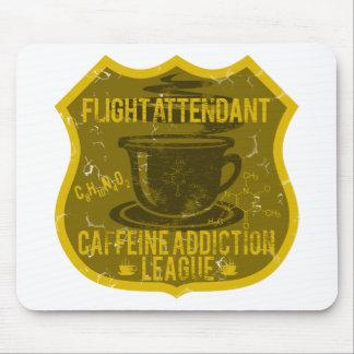 Flight Attendant Caffeine Addiction League Mouse Pad