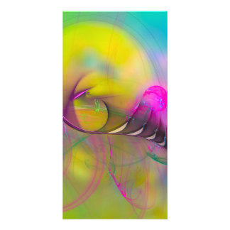 Flight of Icarus  - colorful digital abstract art Customised Photo Card