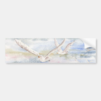 'Flight of the Gulls' Bumper Sticker Car Bumper Sticker