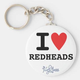 Flightless I Heart Redheads Keychain