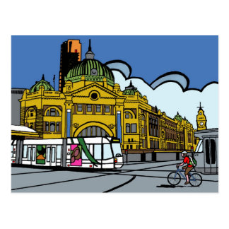Flinders Street Station Postcard