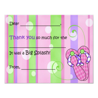 Flip Flop Whimsy Fill-in-the-Blank Thank You Card Custom Announcement