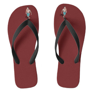 Flip Flops - Little Guy Between Toes Looks Up To U Thongs