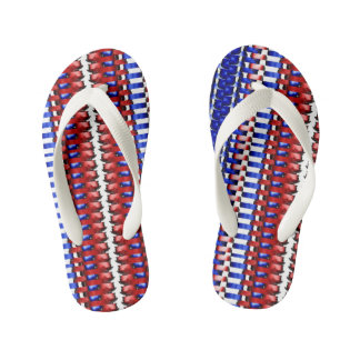 Flip Flops Red, White, & Blue!