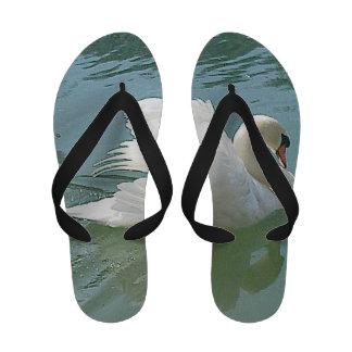Flip flops weisser Schwan