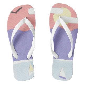 Flip-flops with a Mountain Sunset Design Jandals