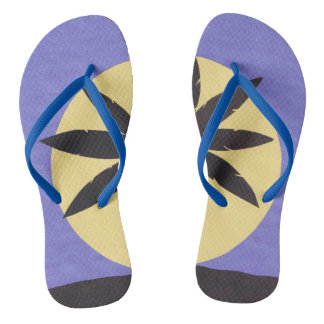 Flip-flops with a Palm Design Thongs