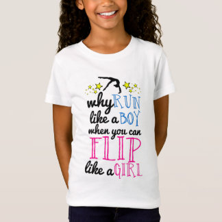 Flip Like a Girl Gymnastics T-Shirt
