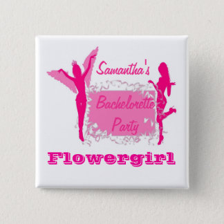 Flirty brides bachelorette party 15 cm square badge