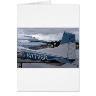 Float plane 8, Lake Hood, Anchorage, Alaska, USA Card