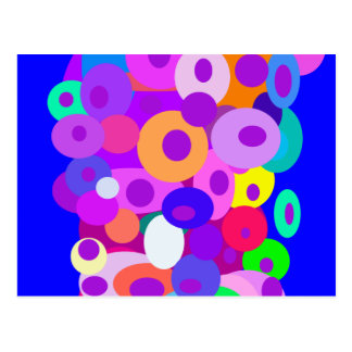 Floating Circles Blue Post Card