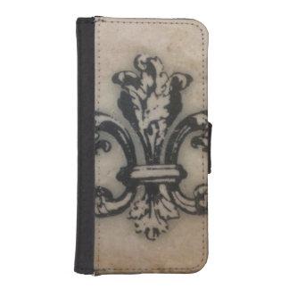 Floating Fleur de Lis Print iPhone SE/5/5s Wallet Case
