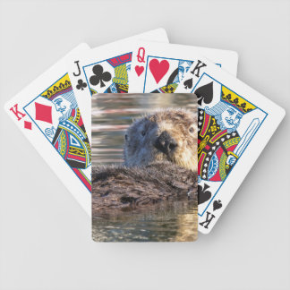 Floating Otter Bicycle Playing Cards