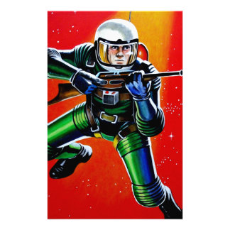FLOATING SPACEMAN STATIONERY