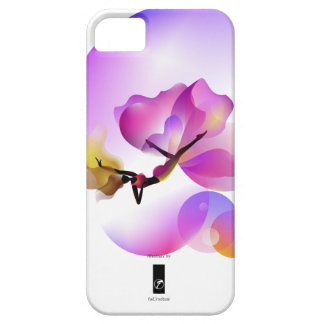 Floaty illustrate purple flower iPhone 5 case