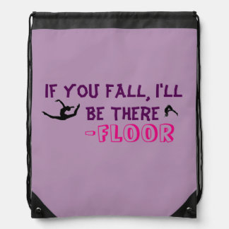 Floor drawstring backpack