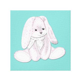 Floppy Baby Pink Plush Bunny Baby Canvas Art Canvas Prints