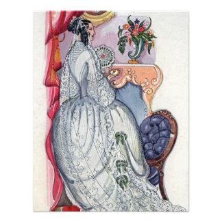 Flora a Victorian Bride Personalized Invitations