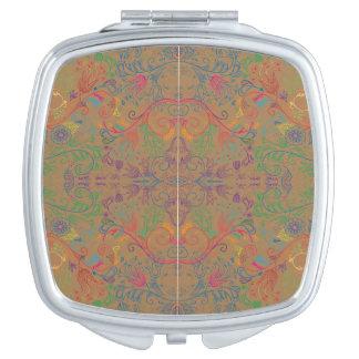 Floradore - Tan Travel Mirror