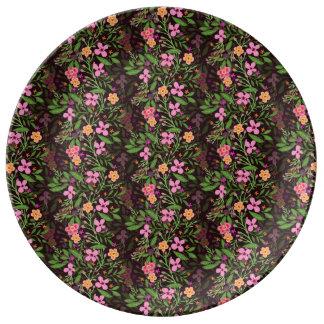 """Floral 10.75"""" Decorative Porcelain Plate"""