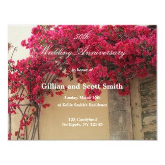 Floral 50th Wedding Anniversary Invitation