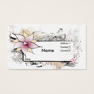 Floral Abstract Design Business Cards