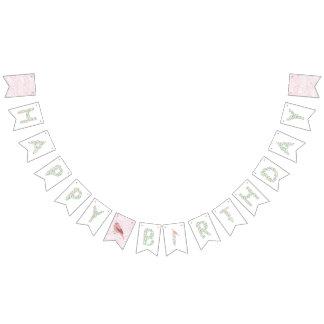 Floral Alphabet Happy Birthday Banner