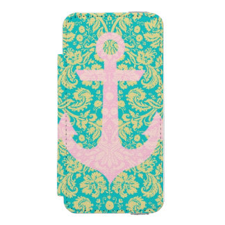 Floral Anchor iPhone 5/5s Case Incipio Watson™ iPhone 5 Wallet Case