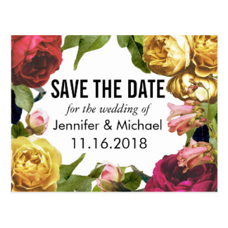 Floral Artistry Save the Date Postcard