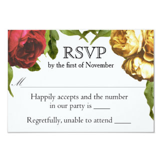 Floral Artistry Wedding RSVP Card
