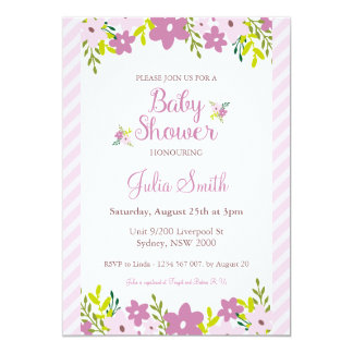 floral baby shower invitations announcements