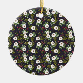 floral beauty-01 christmas ornament