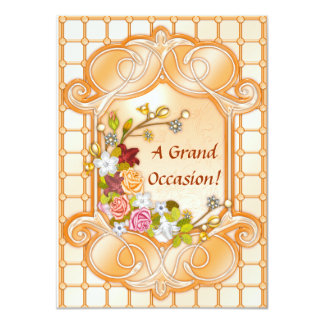 Floral Birthday Invitations Announcements