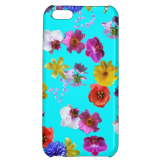 Floral Blue Case Cover For iPhone 5C