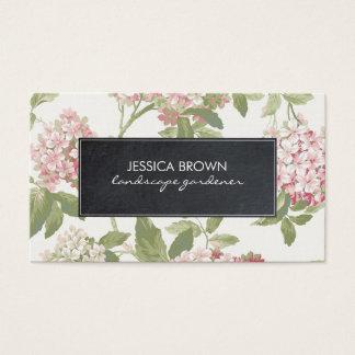 floral botanical hydrangea business card
