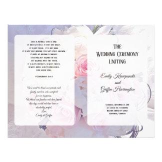Floral Bouquet Christian Catholic Wedding Program Flyer