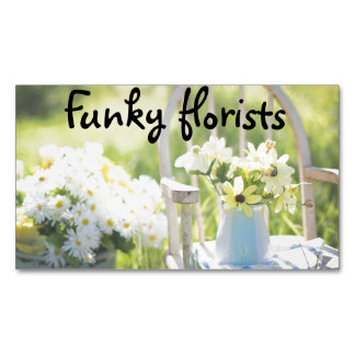 Floral business cards magnetic business cards