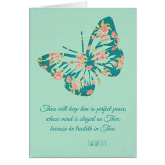 Floral Butterfly with Scripture Quote All Occasion Card