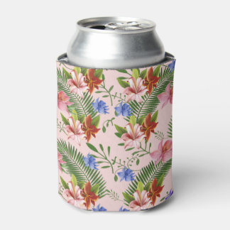 floral can cooler