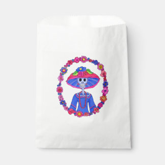 Floral Catrina Favor Bag