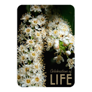 Floral Celebration of Life Invitation #1