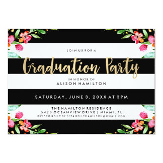 Floral Chic | Graduation Party Invitation