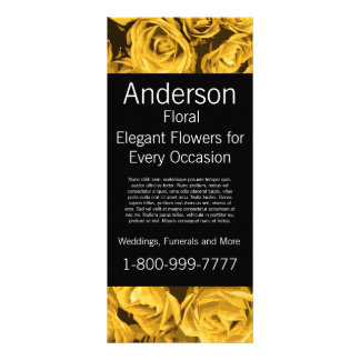 Floral Company Florist Gold Roses Rack Card