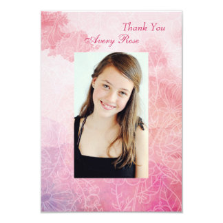 Floral Confirmation Photo Thank You Card